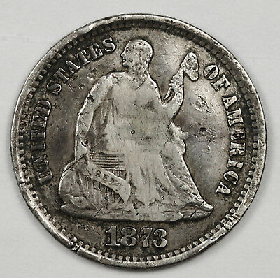 1873-s Liberty Seated Half Dime.  Circulated.  118653