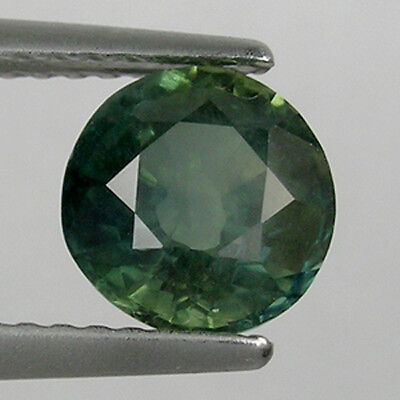 1.66 cts  DAZZLING DEEP GREEN _  NATURAL GREEN SAPPHIRE - ROUND   !