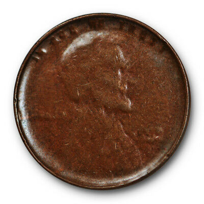 Lincoln Wheat Cent Extra Fine XF Late Stage Die Cap Error US Coin #9266