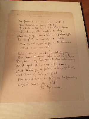 Rose Fyleman Fairies Have Never a Penny To Spend Handwritten Poem Signed!
