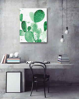 Watercolor Giant Cactus Modern Art Poster Prints Wall Room Decor Canvas Painting