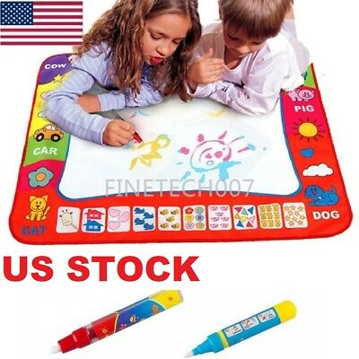 US Drawing Water Pen Painting Magic Doodle Aquadoodle Mat Board Kids Toys 2 Size