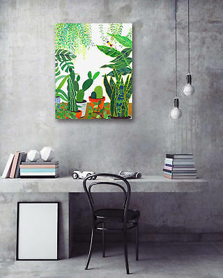 Tropical Plant Graffiti Modern Art Poster Prints Wall Room Decor Canvas Painting