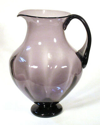 1958 Rare BLENKO Large OPTIC PITCHER 5828-L MULBERRY Wayne Husted Blown Glass NR