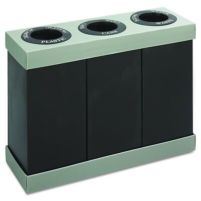 OpenBox Safco Products 9798BL At-Your-Disposal Waste Recycling Center, Three 28-