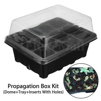 12 Cells Propagation Tray Plant Seed Cloning Insert Clone Grow Box Sowing Kit
