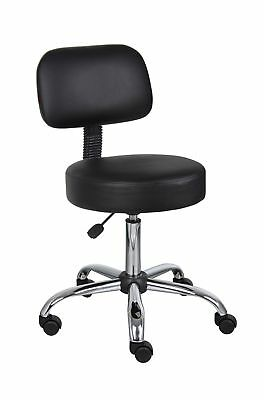 Boss Office Products B245-BK Be Well Medical Spa Stool with Back in Black New