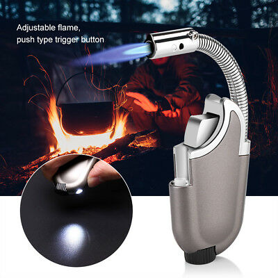 Flexible Refillable Butane Torch Flame Lighter Ignition Kitchen Barbecue Tool EB
