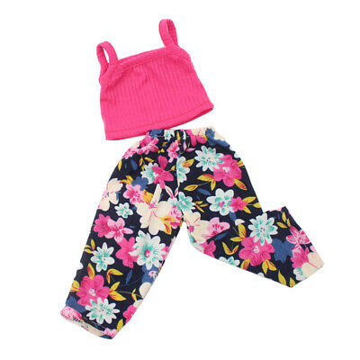 """Fancy Shirt Tank Tops Trousers for 18"""" AG American Doll Molly Doll Clothes Vest"""