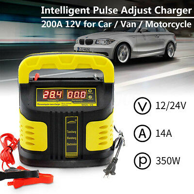 200000mAh 350W 110-250V LCD Auto Adjust Car Vehicle Jump Starter Battery Charger