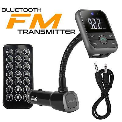 2018 LCD Wireless Bluetooth Car FM Transmitter Radio MP3 Player Dual USB Charger