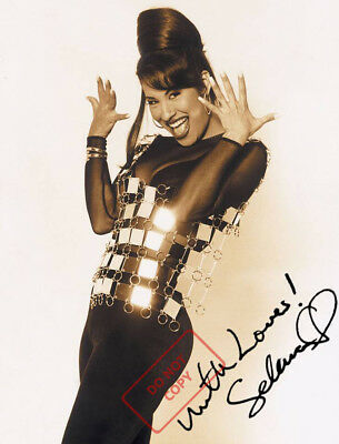 REPRINT 8x10 Signed Autographed Photo:  Selena Quintanilla