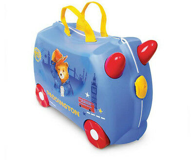 Trunki Kids' 46x31cm Paddington Bear Ride-On Suitcase - Blue