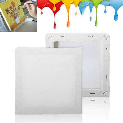 15*15cm Stretched Blank White Artist Drawing Art Painting Canvas Wooden Frame