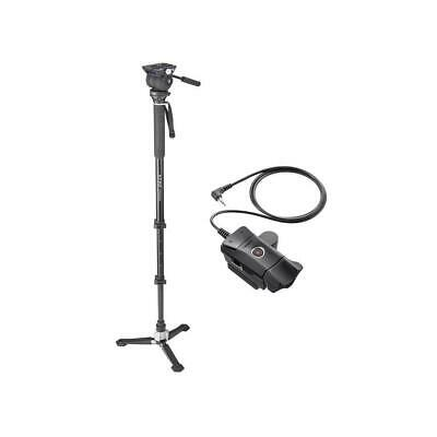 Libec Hands-Free Monopod with Video Head and Case W/Libec ZFC-L Zoo Focus Contrl