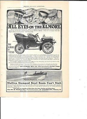 10 Car Auto 1905  Magazine Ad Pope Yale Marion Reliance Olds Royal Haynes Elmore