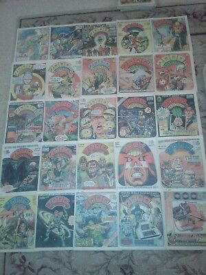 25 x 2000 AD JUDGE DREDD COMICS : PROGS 138 - 139, 144 - 156, 158 - 167