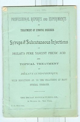 1800s Syrups & Subcutaneous Injections, Declat Company