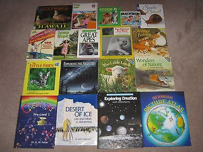 Lot of 50 Non Fiction Books Children Grade School Science Nature Animal Insects+
