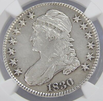 NGC XF Details 1830 Small 0 Capped Bust Half Dollar -- Bright Coin SEE PICS 6691