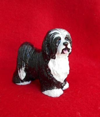 Vintage Tibetan Terrier Dog Figurine Signed Hevener Great Gift!  Mint GORGEOUS!