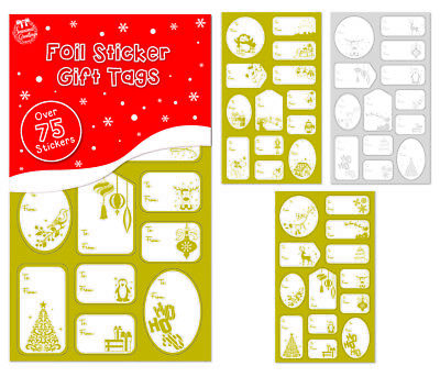150 christmas gift tags 75 gold 75 silver foil gift labels
