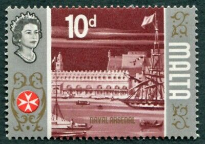 MALTA 1970 10d multicoloured SG339c mint MH FG Naval arsenal #W53