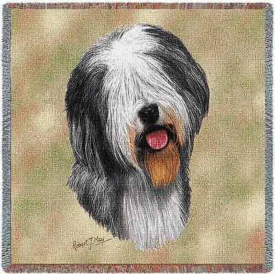 Lap Square Blanket - Old English Sheepdog by Robert May 1149