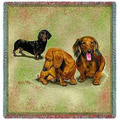 Lap Square Blanket - Dachshund Trio by Robert May 1127