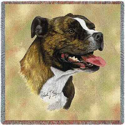 Lap Square Blanket - Staffordshire Bull Terrier by Robert May 1945
