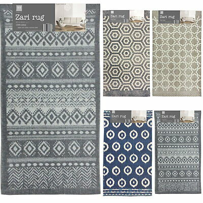 Contemporary 100% Cotton Natural Weave Modern Home Indoor Fringed Rug Door Mat