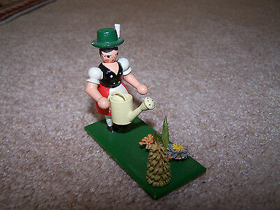 German Handmade Garden  Wood Scene Erzgebirg Folk Art