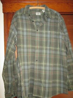 Mens Flannel Shirt Very Nice By  Ll Bean Size Large No Issues