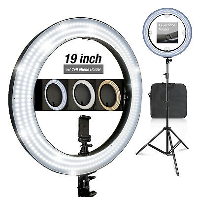 14 Inch Photography Studio Dimmable Selfie Ring Light with Stand & Adapter