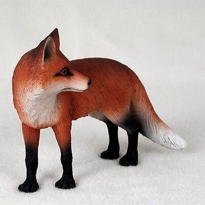 """NEW Red Fox Standing 5"""" Figurine Sculpture Statue Life Like Realistic CC-AF27A"""