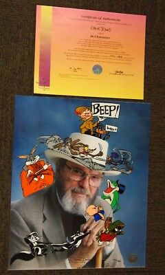 IN CHARACTER HAND-SIGNED CHUCK JONES Limited Edition Cel UF Marvin the Martian