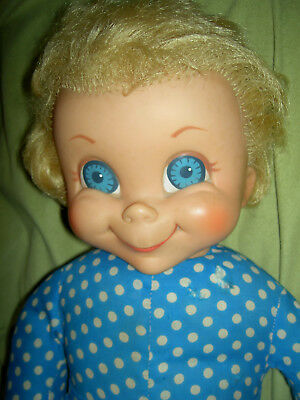 "Large 22"" t'gd. Mrs. Beasley, Mattel 1967, Family Affair doll w/pull-string etc."