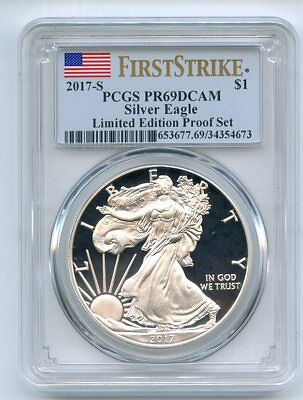 2017 S $1 American Silver Eagle PCGS PR69DCAM First Strike Limited Edition