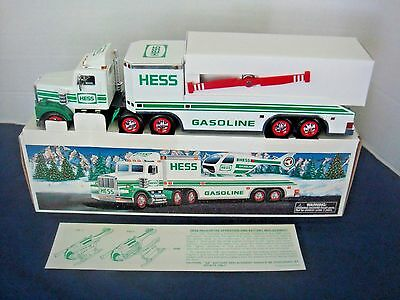 EXCELLENT HESS TRUCK and HELICOPTER~1995~ORIGINAL BOX~NEVER OPENED/PLAYED WITH!