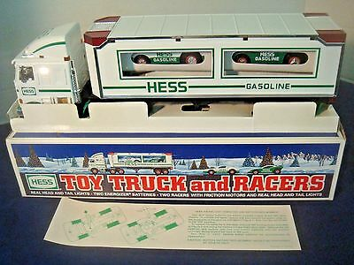 1997 Hess Toy Truck & Racers~Original Box Never Played With~Excellent Condition