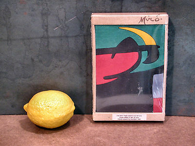vtg JOAN MIRO abstract mcm surrealism painting WOOD PUZZLE avant garde toy NOS