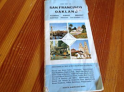 1970 Old Street Map of San Francisco Oakland proceeds feed 15 rescue horses hay