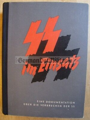 r374) SS crimes concentration camp photos docs Waffen documents East German book