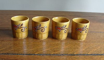 Set Of 4 x Palissy Royal Worcester Casual Tableware Egg Cups