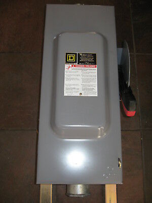 Square D HU363 Heavy Duty 100A Non-Fusible 600V Safety Disconnect Switch