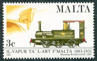 MALTA 1983 3c SG705 mint MNH FG Centenary of Malta Railway Manning Wardle #W53
