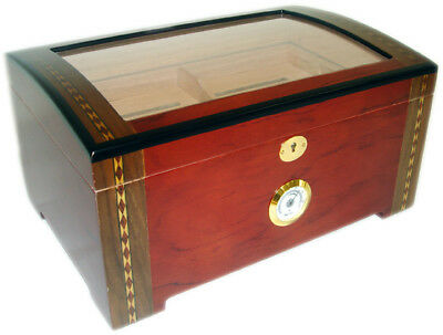 200 ct TOP DISPLAY DOME CIGAR HUMIDOR THE MONARCH - NEW