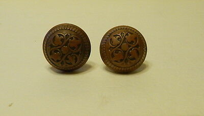 Antique Ornate Copper Door Knob Set Russell & Erwin Mfg Co New Britain Ct Usa