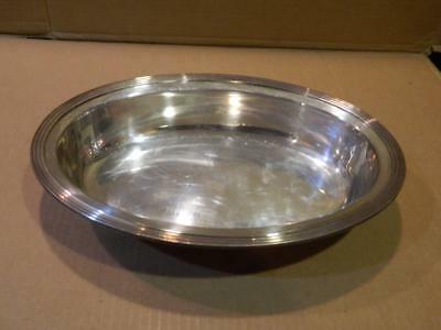 Tiffany & Co Makers A &  S Co. Silver Soldered Oval Serving Bowl Vintage