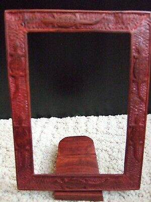 Hand Carved Wood WoodenLizard Motif Picture Photo Frame Malawi Africa